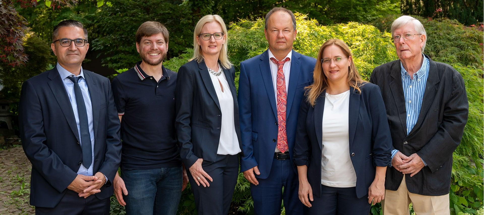 Gruppenbild der Anwälte und Steuerberater der Kanzlei Dr. Wachter, Tisch, Judt & Partner aus Heilbronn
